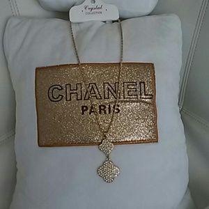 Jewelry - DIVA LUXURY GOLD RHINESTONE NECKLACE NEW